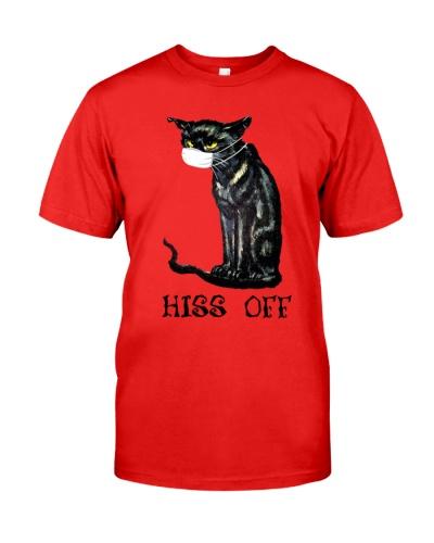 Black Cat Covid Hiss Off