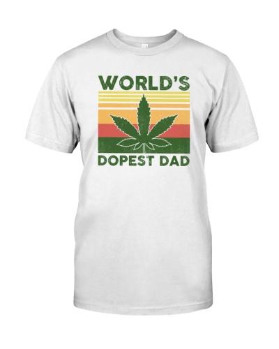 World dopest dad cannabis leaf
