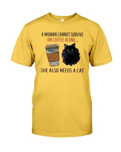 Woman Coffee Cat