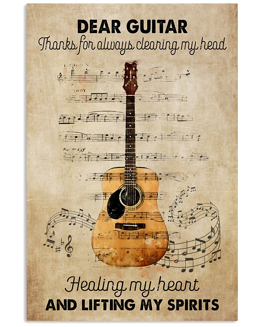 Dear my guitar 11x17 Poster