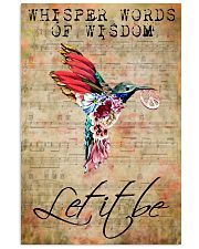 Let It Be Hummingbird Peace Sheet Music  11x17 Poster front