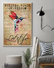 Let It Be Hummingbird Peace Sheet Music  11x17 Poster lifestyle-poster-1