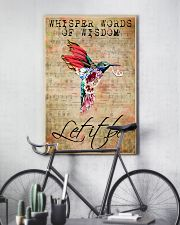 Let It Be Hummingbird Peace Sheet Music  11x17 Poster lifestyle-poster-7