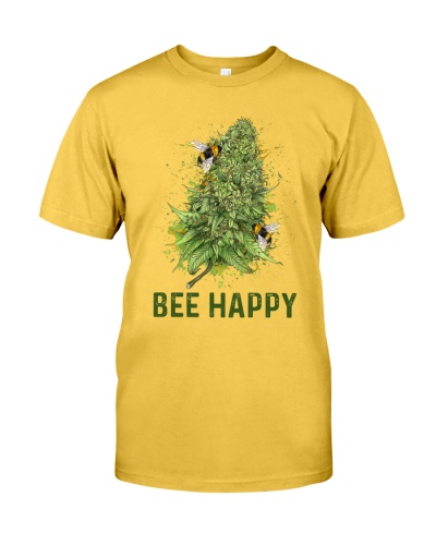 Bee Happy Marijuana Water Color