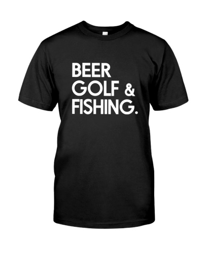 Beer Golf and Fishing