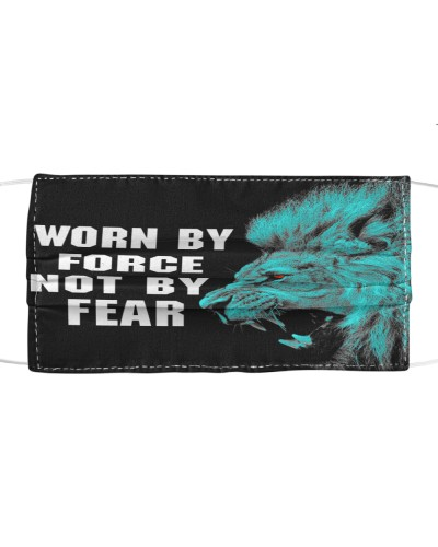 Worn by force not by fear lion
