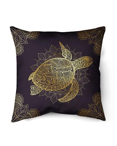 Letibee Turtle Flowers Pillow