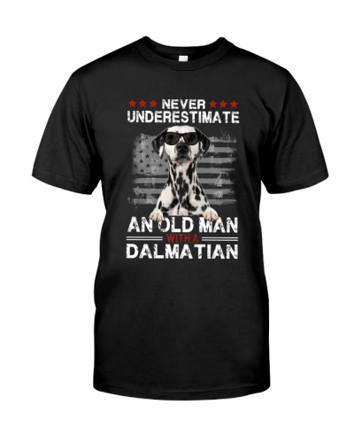 Never Underestimate Dalmatian American Flag