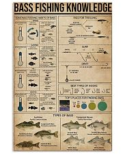 Bass fishing knowledge 16x24 Poster front