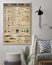 Bass fishing knowledge 16x24 Poster lifestyle-poster-1