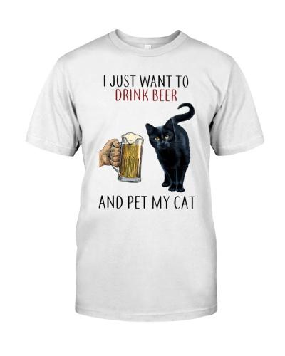 LETIBEE Drink Beer and Black Cat