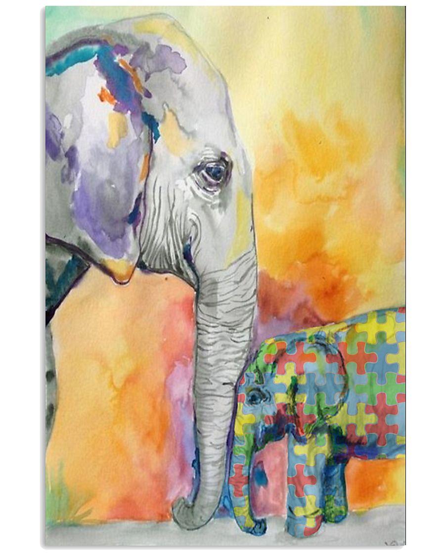 Autism Elephant 16x24 Poster