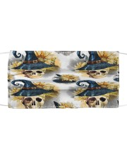 Witchy Sunflower Skull Pattern Cloth face mask thumbnail