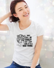 They Call Me Crazy Cat Lady Ladies T-Shirt lifestyle-holiday-womenscrewneck-front-1