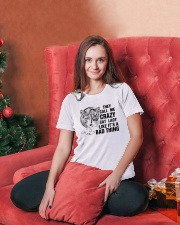 They Call Me Crazy Cat Lady Ladies T-Shirt lifestyle-holiday-womenscrewneck-front-2