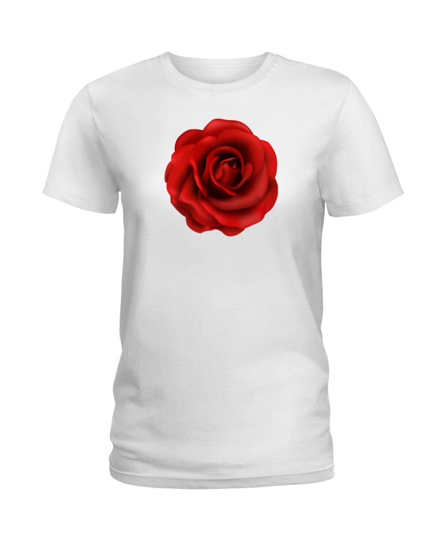 Red Classic Rose Ladies T-Shirt