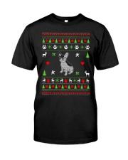 French Bulldog Ugly Christmas Sweater Classic T-Shirt thumbnail
