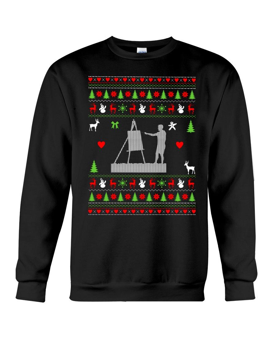 Painting Ugly Christmas Sweater Crewneck Sweatshirt