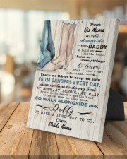 Walk Alongside Me Dadddy Personalized 8x10 Easel-Back Gallery Wrapped Canvas aos-easel-back-canvas-pgw-8x10-lifestyle-front-04