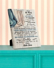 Walk Alongside Me Dadddy Personalized 8x10 Easel-Back Gallery Wrapped Canvas aos-easel-back-canvas-pgw-8x10-lifestyle-front-15