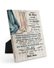 Walk Alongside Me Dadddy Personalized 8x10 Easel-Back Gallery Wrapped Canvas front
