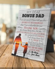 My Dear Bonus Dad Personalized 8x10 Easel-Back Gallery Wrapped Canvas aos-easel-back-canvas-pgw-8x10-lifestyle-front-04