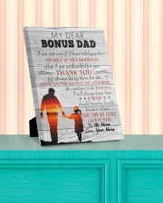 My Dear Bonus Dad Personalized 8x10 Easel-Back Gallery Wrapped Canvas aos-easel-back-canvas-pgw-8x10-lifestyle-front-15