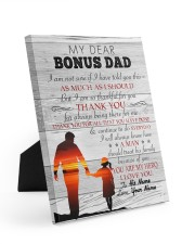 My Dear Bonus Dad Personalized 8x10 Easel-Back Gallery Wrapped Canvas front