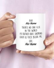 Funny Valentine's Day Gift Snoring Mug ceramic-mug-lifestyle-27