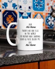 Funny Valentine's Day Gift Snoring Mug ceramic-mug-lifestyle-52