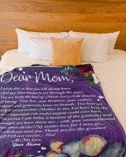 """Perfect Mothers Day Gift Large Fleece Blanket - 60"""" x 80"""" aos-coral-fleece-blanket-60x80-lifestyle-front-02a"""