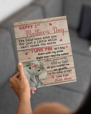 Happy 1st Mother's Day 8x10 Easel-Back Gallery Wrapped Canvas aos-easel-back-canvas-pgw-8x10-lifestyle-front-19