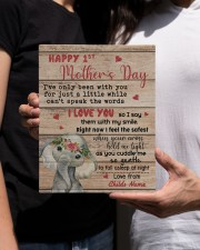 Happy 1st Mother's Day 8x10 Easel-Back Gallery Wrapped Canvas aos-easel-back-canvas-pgw-8x10-lifestyle-front-22