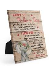 Happy 1st Mother's Day 8x10 Easel-Back Gallery Wrapped Canvas front