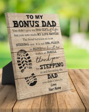 To My Bonus Dad Personalized 8x10 Easel-Back Gallery Wrapped Canvas aos-easel-back-canvas-pgw-8x10-lifestyle-front-02