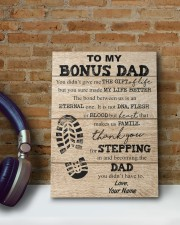 To My Bonus Dad Personalized 8x10 Easel-Back Gallery Wrapped Canvas aos-easel-back-canvas-pgw-8x10-lifestyle-front-14