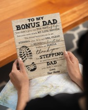 To My Bonus Dad Personalized 8x10 Easel-Back Gallery Wrapped Canvas aos-easel-back-canvas-pgw-8x10-lifestyle-front-17