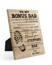 To My Bonus Dad Personalized 8x10 Easel-Back Gallery Wrapped Canvas front