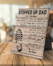 Stepped Up Dad Personalized 8x10 Easel-Back Gallery Wrapped Canvas aos-easel-back-canvas-pgw-8x10-lifestyle-front-04