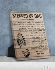 Stepped Up Dad Personalized 8x10 Easel-Back Gallery Wrapped Canvas aos-easel-back-canvas-pgw-8x10-lifestyle-front-06