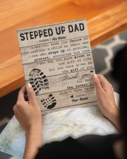 Stepped Up Dad Personalized 8x10 Easel-Back Gallery Wrapped Canvas aos-easel-back-canvas-pgw-8x10-lifestyle-front-17