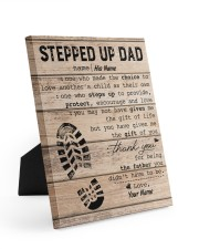 Stepped Up Dad Personalized 8x10 Easel-Back Gallery Wrapped Canvas front