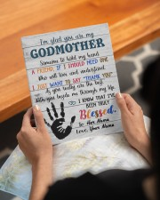 To My Godmother Personalized 8x10 Easel-Back Gallery Wrapped Canvas aos-easel-back-canvas-pgw-8x10-lifestyle-front-17