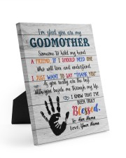 To My Godmother Personalized 8x10 Easel-Back Gallery Wrapped Canvas front