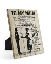To My Mom Personalized 8x10 Easel-Back Gallery Wrapped Canvas front