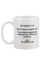 Gift for daughter-in-law Mug back