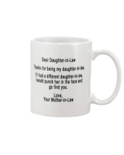 Gift for daughter-in-law Mug front