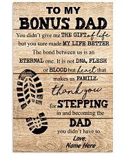 TO MY BONUS DAD 16x24 Poster front