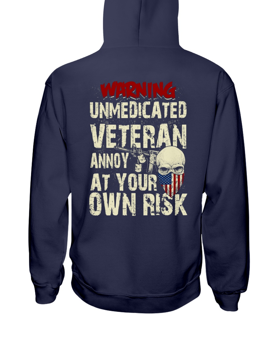 Unmedicated Veteran Special Design Hooded Sweatshirt