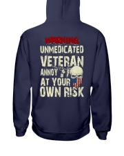 Unmedicated Veteran Special Design Hooded Sweatshirt back